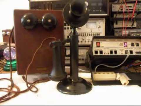 a western electric vintage candlestick and bell box telephone repair 618 235 6959 youtube. Black Bedroom Furniture Sets. Home Design Ideas