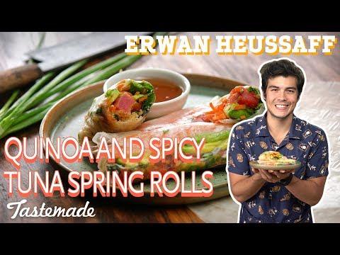 Quinoa and Spicy Tuna Fresh Spring Rolls | Erwan Heussaff