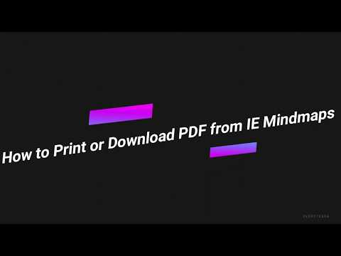 How To Take Print Out Or Download PDF From IE Mindmaps?