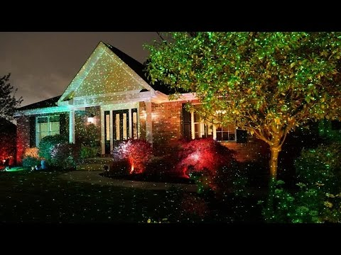 review star shower outdoor laser christmas lights star projector by bulbhead