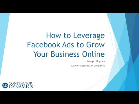 Facebook Advertising Training for Contractors