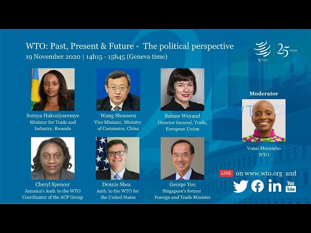 WTO: Past, Present & Future — The political perspective
