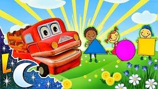 La Figuras Geométricas con Barney El Camión | Videos Educativos para Niños | Lunacreciente
