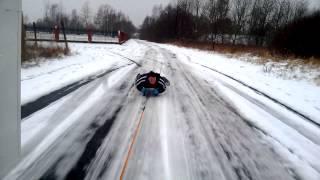 Pierwszy śnieg pierwszy kulig PODCZELE 2014 start 01:00