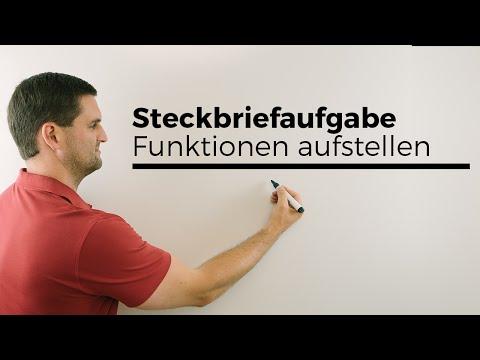 Steckbriefaufgabe, Beispiel, Funktionen aufstellen, Rekonstruktion | Mathe by Daniel Jung from YouTube · Duration:  4 minutes 23 seconds