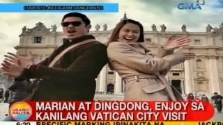 UB: Marian at Dingdong, enjoy sa kanilang Vatican City visit