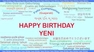 Yeni   Languages Idiomas - Happy Birthday