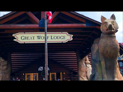 Great Wolf Lodge Full Tour 4K Video - Indoor Water Park Family Vacation