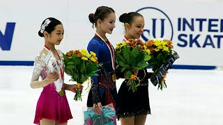 Церемония награждения Девушки Гданьск Гран при по фигурному катанию среди юниоров 2021 22