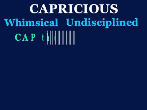 capricious - YouTube