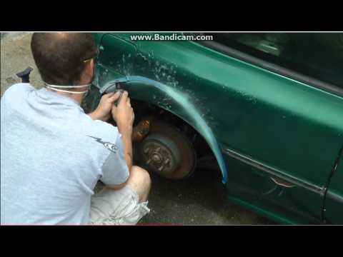 Увеличение арки колеса на SUBARU своими руками