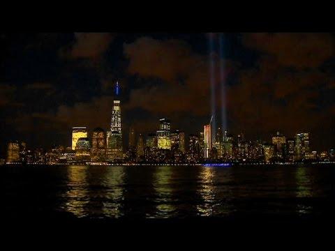"""Tribute in Light"" in Lower Manhattan"