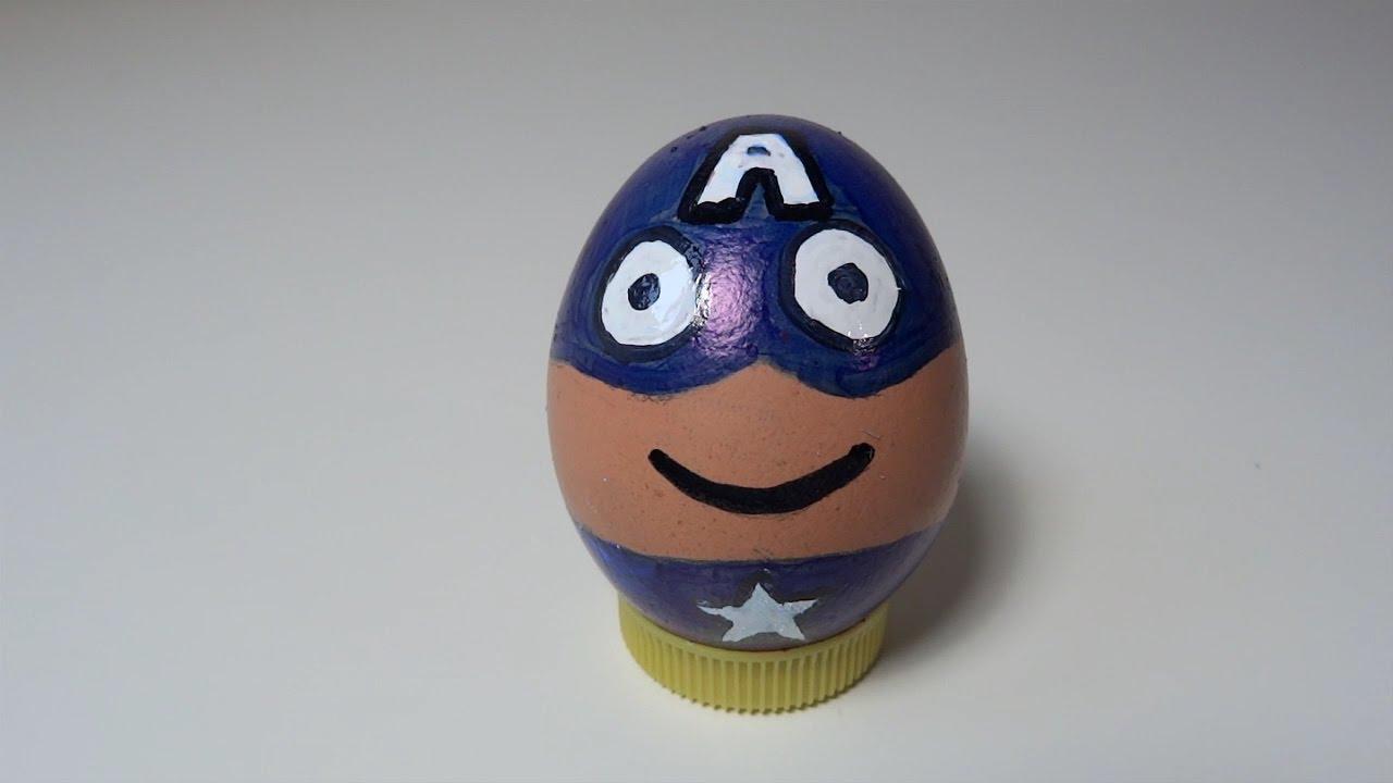 Como pintar un huevo de capitan america youtube - Como pintar un radiador ...