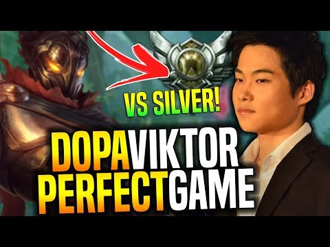 Dopa Perfect Game With Viktor vs Silver Players! - Dopa Plays Viktor with New Runes Preseason 8!