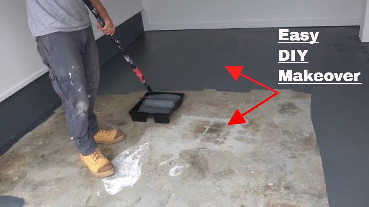 To Paint Concrete Floors Diy Makeover