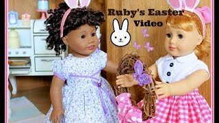 American Girl Spring And Easter Decorations - Room Tour