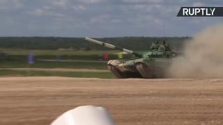 Día 7: Biatlón de tanques durante los IV Juegos Militares Internacionales