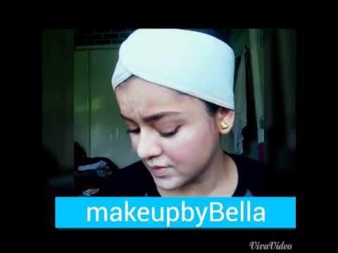 tutorial simple makeup by bella Zulyadaini