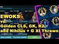 Ewoks vs Golden CLS, R2, GK, Nihilus + G-XI Thrawn - GW last node SWGOH