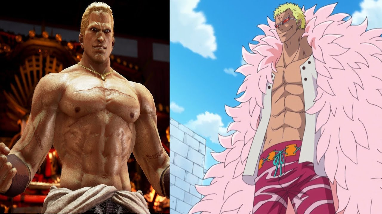 Tekken 7 Transform Geese Howard Into Doflamingo From One Piece Cosplay Youtube
