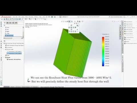 Solidworks Simulation- Heat Conduction Through Wall with linearly varying Thermal Conductivity