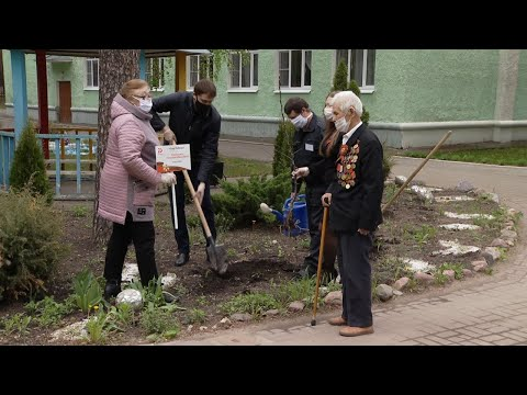 «Сад Победы» посадили в доме-интернате для ветеранов войны и труда в Тамбовской области