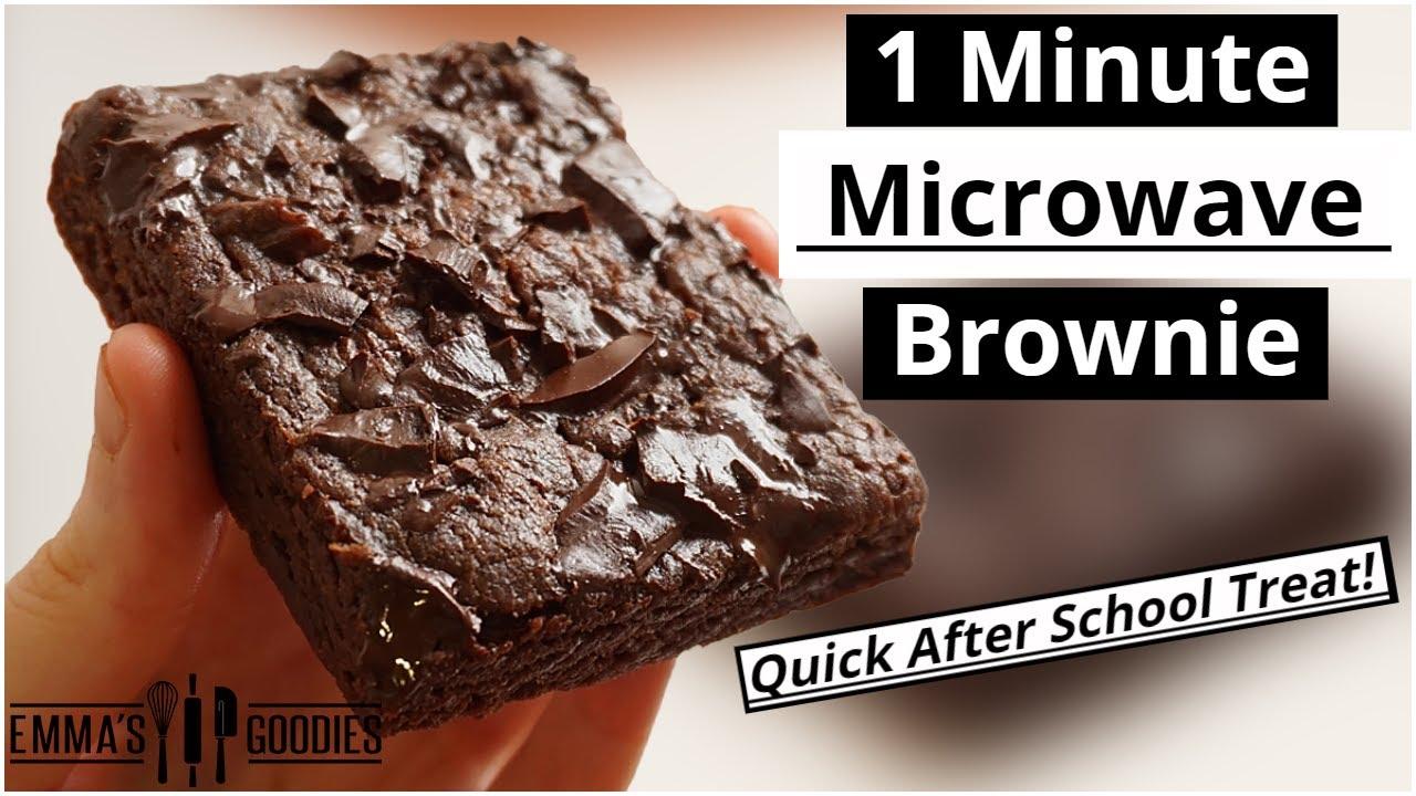1 Minute Microwave BROWNIE ! The EASIEST Chocolate Brownie Recipe