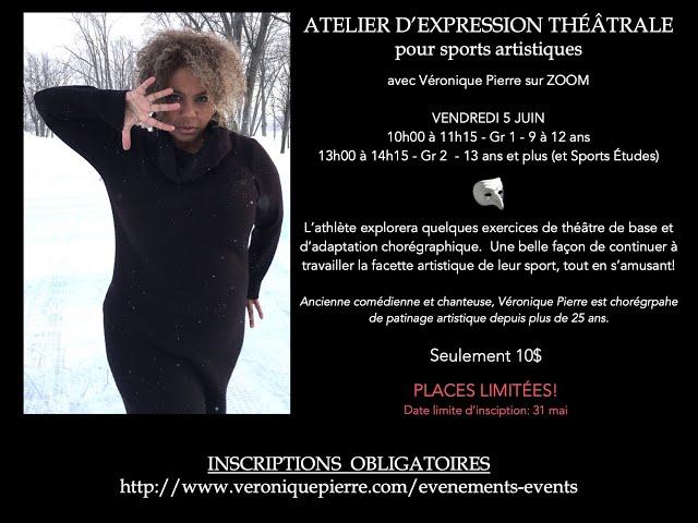 Atelier expression théâtrale pour sports artistiques