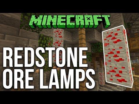 Minecraft: Redstone Ore Lamps (Always Lit) Tutorial