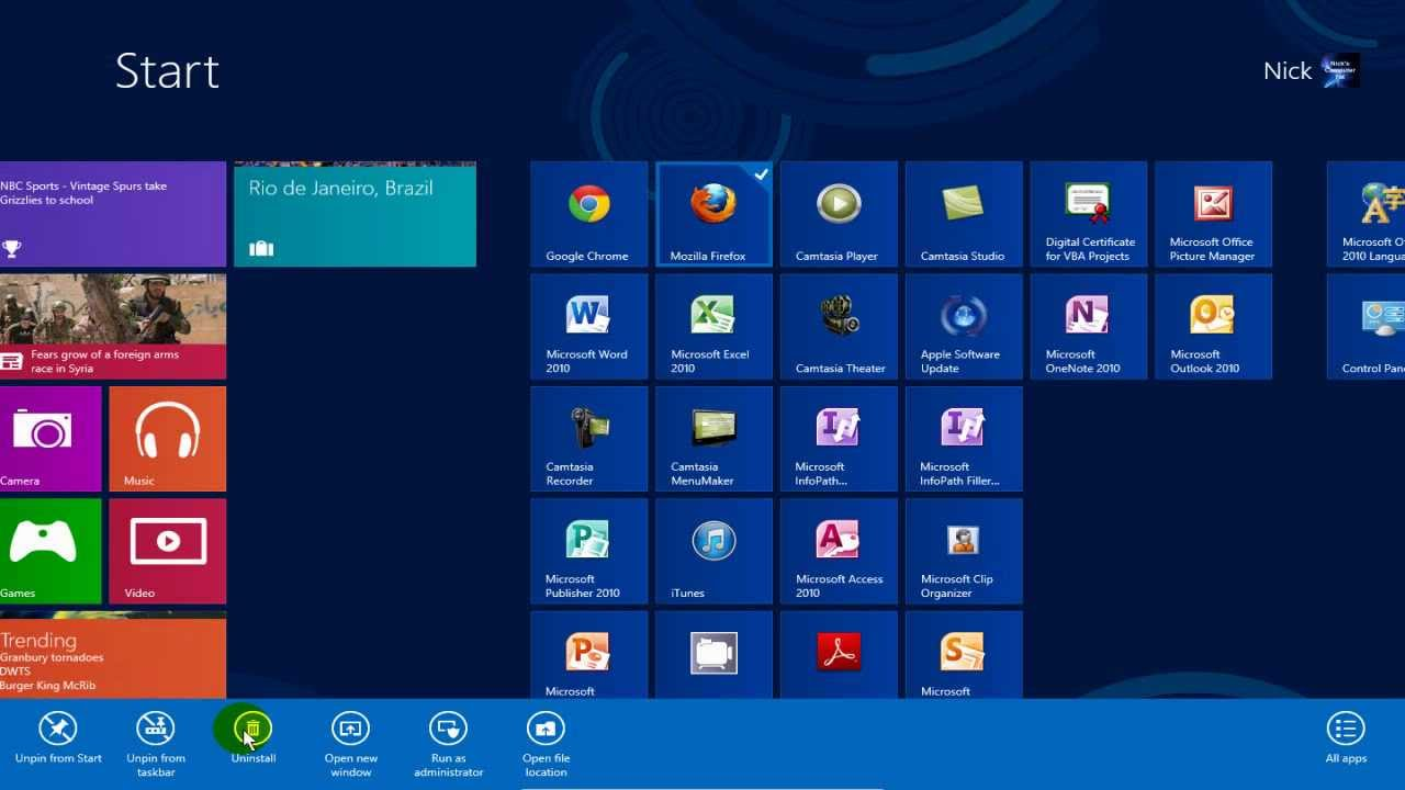 Windows 8 How to Uninstall Programs - Uninstall Apps on Windows 8