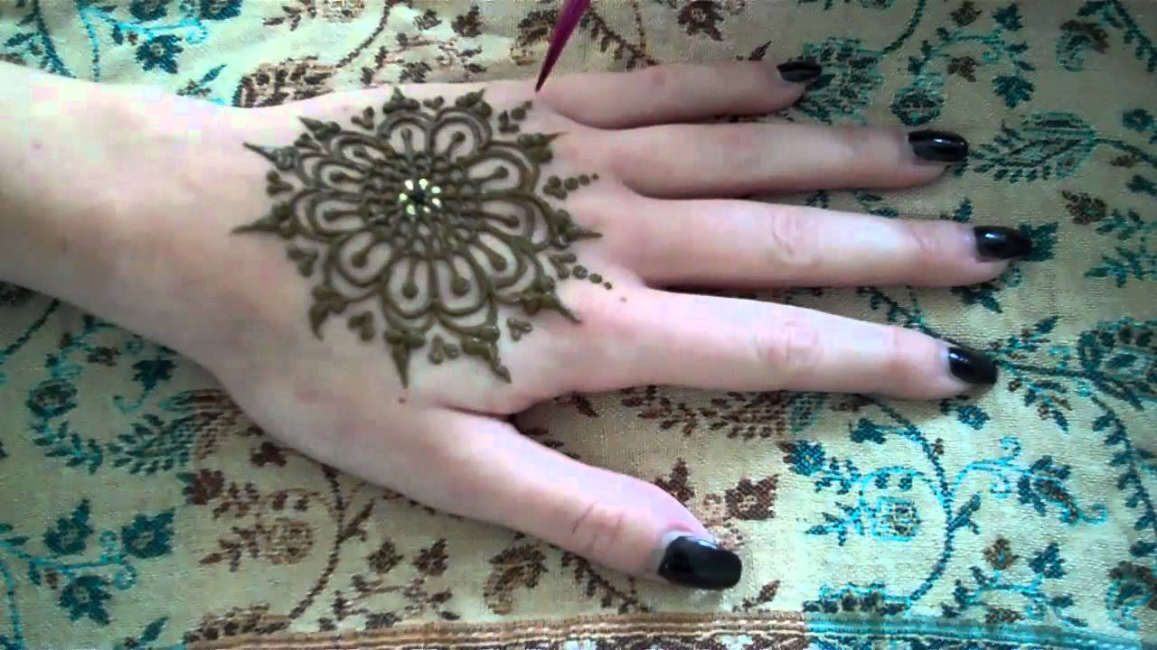 Mehndi Henna Lemon : Hennacat henna demonstration mandala youtube