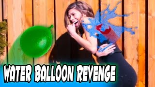 WATER BALLOON REVENGE! - Pool Party Panic!