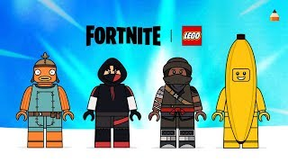 Drawing Lego Fortnite Skins | Drawing Peely, Ikonik, Fishstick, Ninja | #fortnite #LEGO