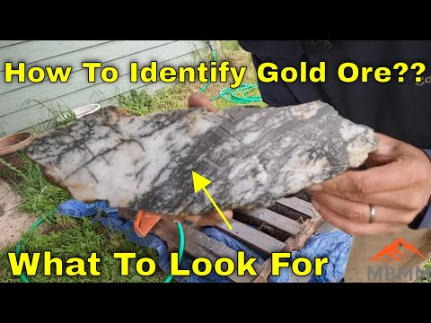 How To Identify Gold In Rocks? Cutting Ore Samples, Mineral Identification, Finding Free Gold!