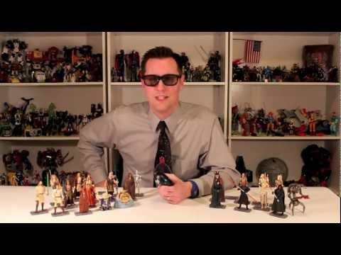 Star Wars Phantom Menace Episode 1 3d Action figures Toys Comm Tech Reader Chips