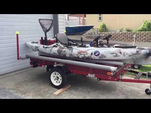 Harbor Freight Double Kayak Trailer Build   Use 1 or 2 Kayaks