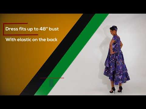 African print Flare Dress for plus sizes