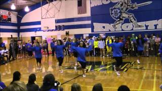 McCallum Senior Cheerleaders- Pep Rally 10/31/14