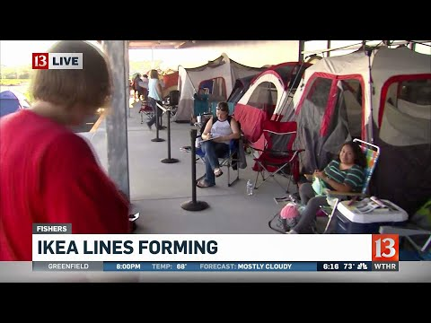 Lines form outside new Fishers IKEA store