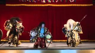 第38回豊平神楽競演大会にて、琴莊神楽団による新舞「滝夜叉姫」