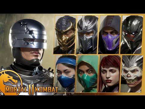 ROBOCOP Meets MortaL Kombat 11 NINJAS ! (All Dialogues)  