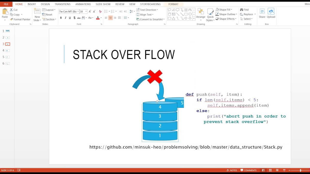 Stack data structure in python
