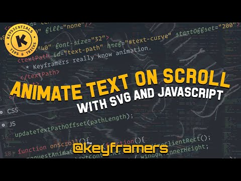 Animate Text On Scroll | SVG TextPath Tutorial | Keyssentials: Quick Tips By @keyframers