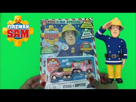 Feuerwehrmann Sam / Fireman Sam Jupiter and Venus Unboxing + Christmas Comic
