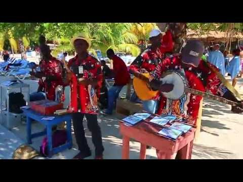 A Haitian Band performs for cruise ship tourists at Labadee
