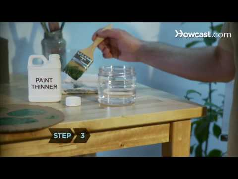 How to Clean Oil Paint Off Paintbrushes