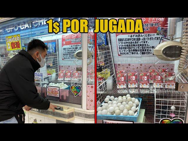 Juegos de SWITCH a UN DOLAR en JAPON? retando a MAQUINA DE GARRA (UFO) | VIDEOJUEGOS | NINTENDO