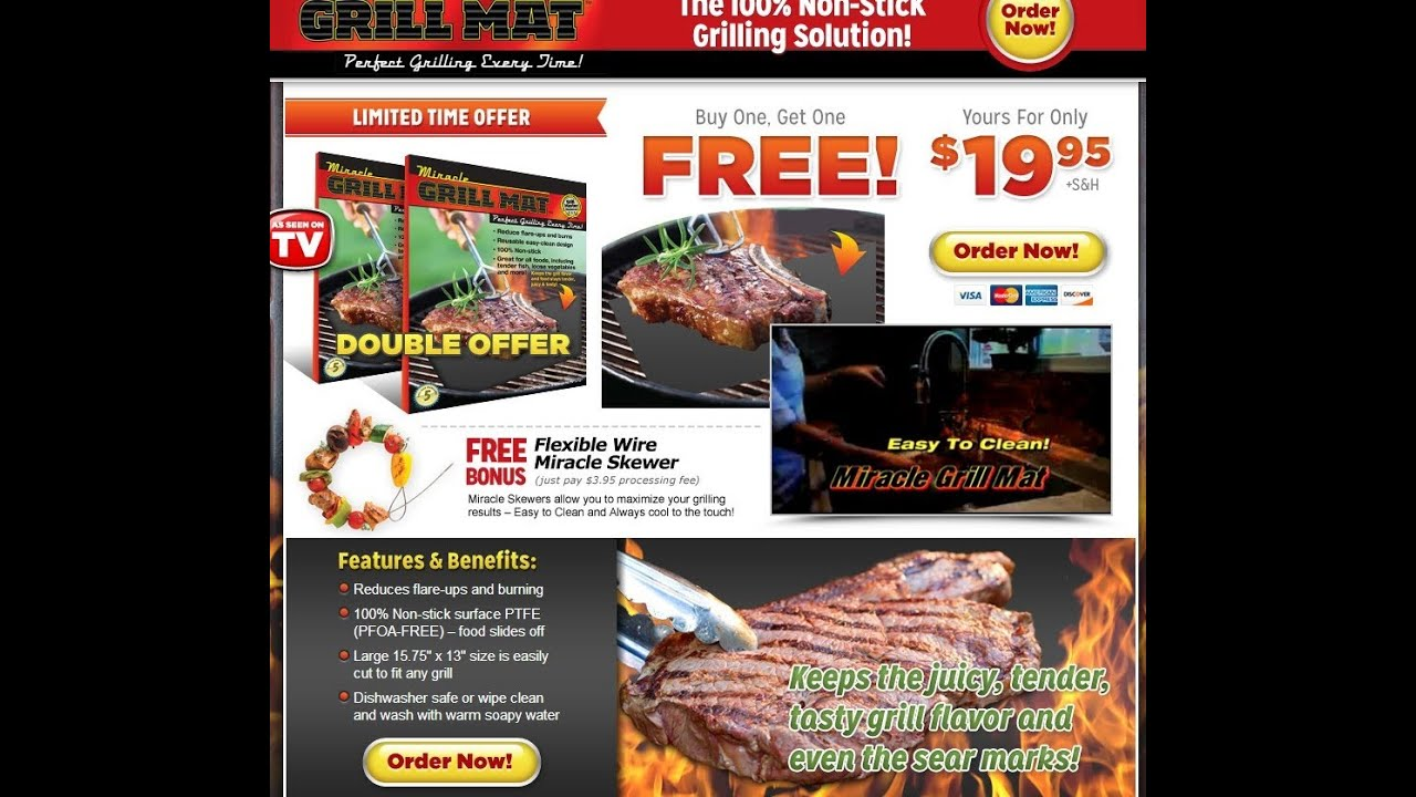 Miracle grill mat as seen on tv youtube