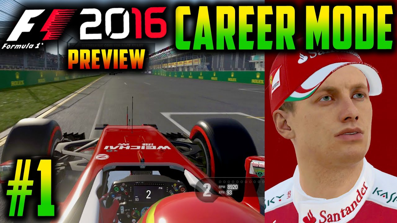 f1 2016 ps4 career mode part 1 customisation car upgrades preview youtube. Black Bedroom Furniture Sets. Home Design Ideas
