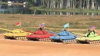 Russland gewinnt ersten Panzer-Biathlon